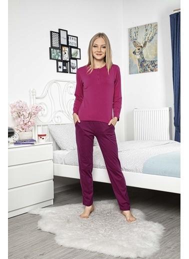 Aydoğan Kadın Modal Uzun Kollu Pijama Takımı Renkli
